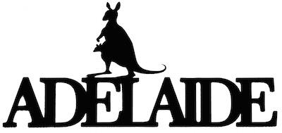Adelaide Scrapbooking Laser Cut Title with Kangaroo