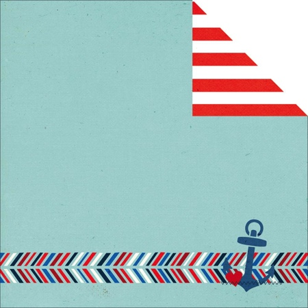 Ahoy 12x12 Double Sided Scrapbooking Paper