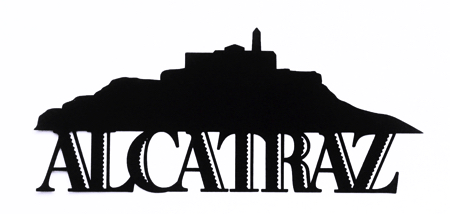 Alcatraz Scrapbooking Laser Cut Title with Skyline