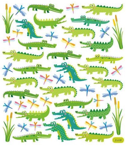 Alligator Fun Shiny Scrapbooking Stickers