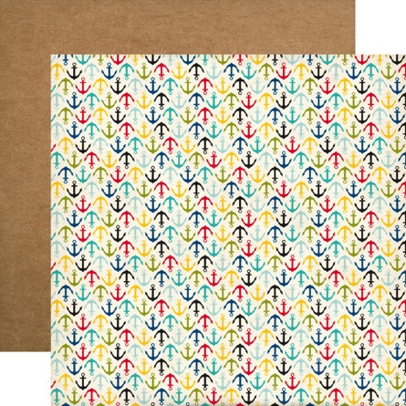 Anchors Away Double Sided 12x12 Scrapbooking Paper