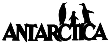 Antarctica Scrapbooking Laser Cut Title With Penguins