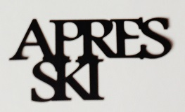 Apres Ski Scrapbooking Laser Cut Title