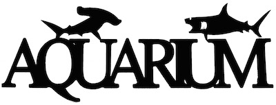 Aquarium Scrapbooking Laser Cut Title with Sharks
