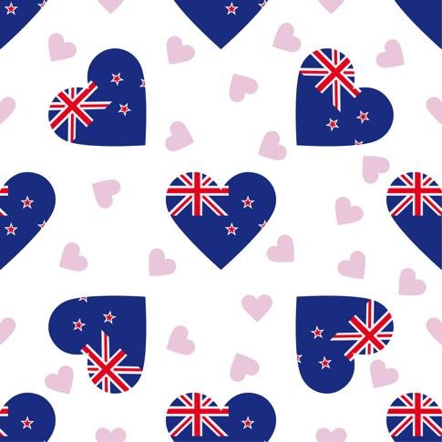 Australian Hearts 12x12 Scrapbooking Paper