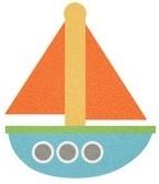 Baby Boy Boat Glitter Die Cut Scrapbooking Sticker