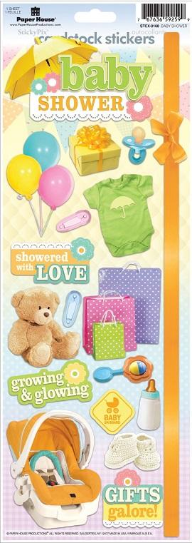 Baby Shower Cardstock Scrapbooking Stickers