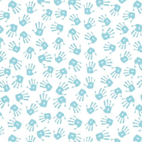 Baby Boy Hand Prints 12x12 Scrapbooking Paper