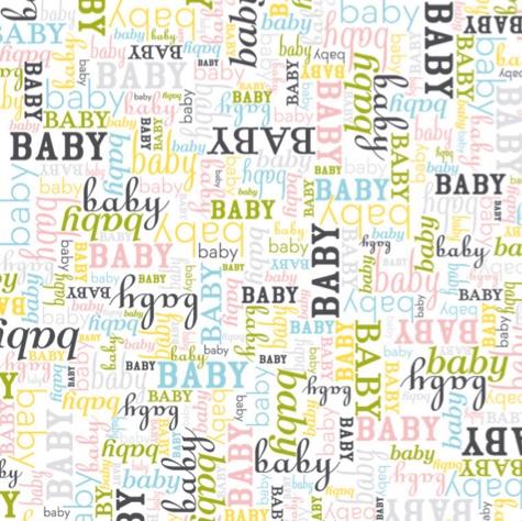 Baby Words 12x12 Scrapbooking Paper