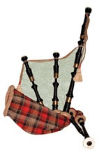 Scottish Bagpipes Scrapbooking Die Cut