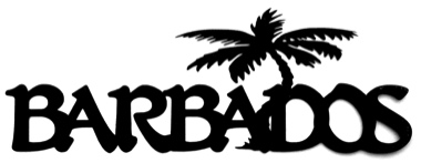 Barbados Scrapbooking Laser Cut Title with Palm Tree