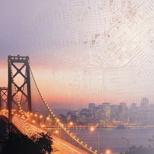 Bay Bridge 12x12 Scrapbooking Paper