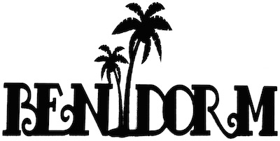 Benidorm Scrapbooking Laser Cut Title With Palm Trees