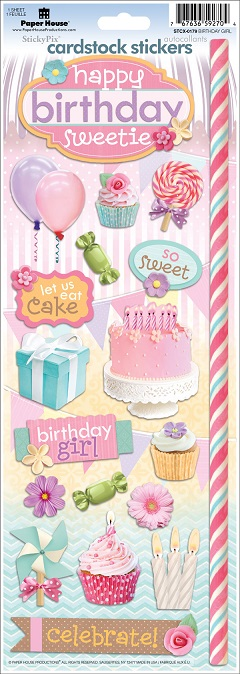Birthday Girl Cardstock Scrapbooking Stickers