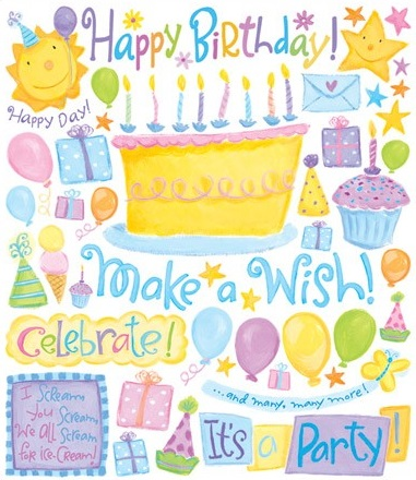 Birthday Large Scrapbooking Stickers