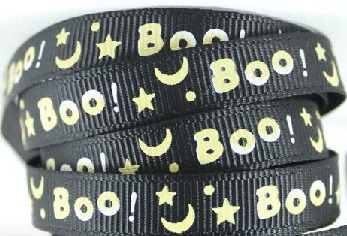 Halloween Black Self Adhesive Scrapbooking Ribbon