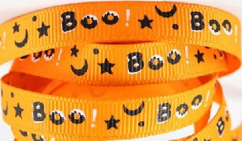 Halloween Orange Self Adhesive Scrapbooking Ribbon