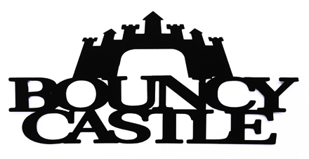 Bouncy Castle Scrapbooking Laser Cut Title with castle