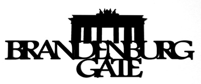 Brandenburg Gate Scrapbooking Laser Cut Title with Gate