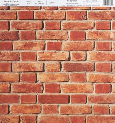 Brick Wall 12x12 Scrapbooking Paper