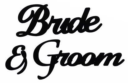 Bride and Groom Scrapbooking Laser Cut Title