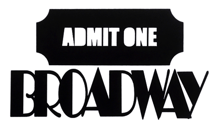 Broadway Scrapbooking Laser Cut Title with Ticket