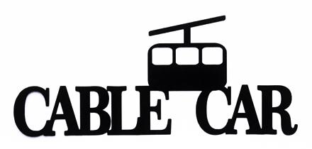 Cable Car Scrapbooking Laser Cut Title