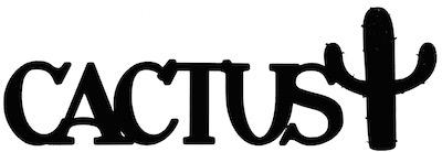Cactus Scrapbooking Laser Cut Title with Cactus