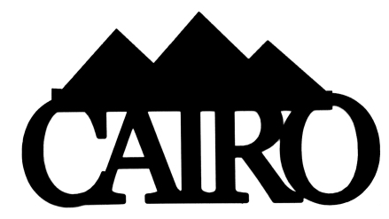 Cairo Scrapbooking Laser Cut Title with Pyramids