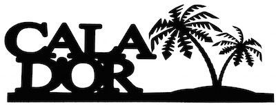 Cala Dor Scrapbooking Laser Cut Title With Palm Trees
