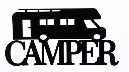 Camper Scrapbooking Laser Cut Title with Camper