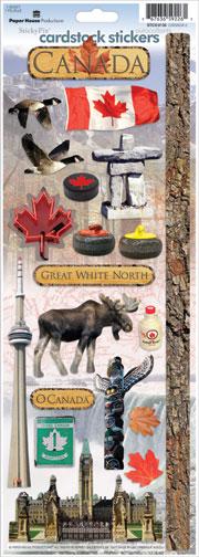Canada Cardstock Scrapbooking Stickers