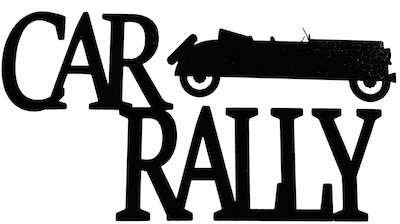 Car Rally Scrapbooking Laser Cut Title with Car