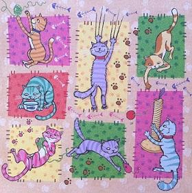 Cat Fun 2 12x12 Scrapbooking Paper