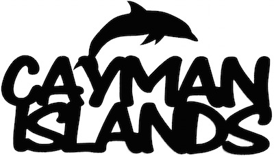 Cayman Islands Scrapbooking Laser Cut Title with Dolphin