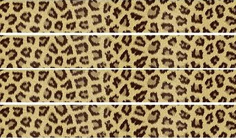 Cheetah Print Self Adhesive Scrapbooking Ribbon