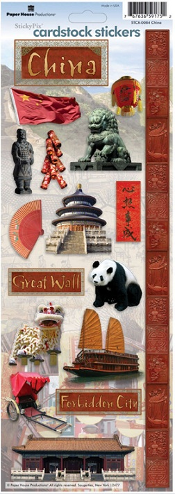 China Cardstock Scrapbooking Stickers
