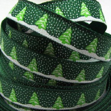 Christmas Trees Self Adhesive Scrapbooking Ribbon