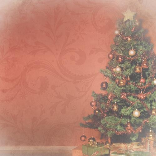 Christmas Tree 12x12 Scrapbooking Paper