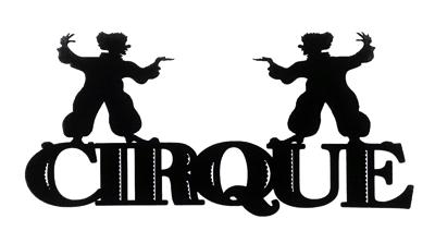 Cirque Scrapbooking Laser Cut Title with Clowns