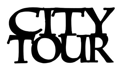 City Tour Scrapbooking Laser Cut Title