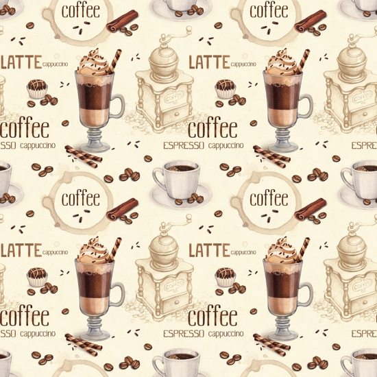 Coffee Time 12x12 Scrapbooking Paper
