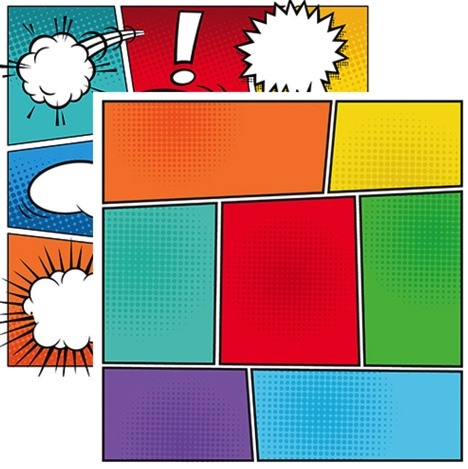 Comic Book Double Sided Scrapbooking Paper