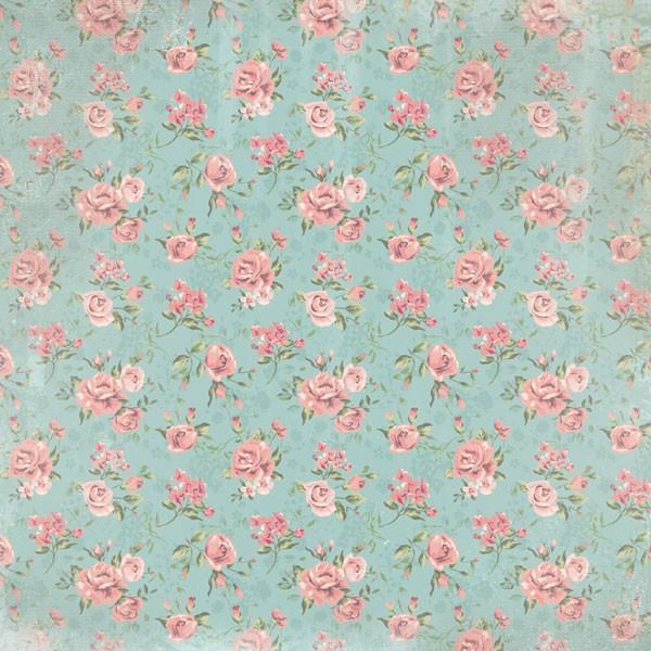 Pink Floral Craft Paper