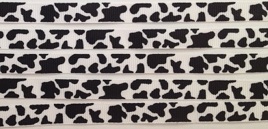 Cow Print Self Adhesive Scrapbooking Ribbon