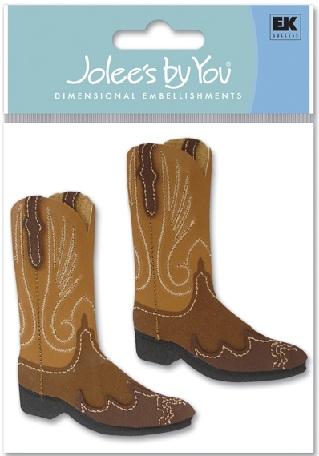 Cowboy Boots Jolees 3D Scrapbooking Stickers