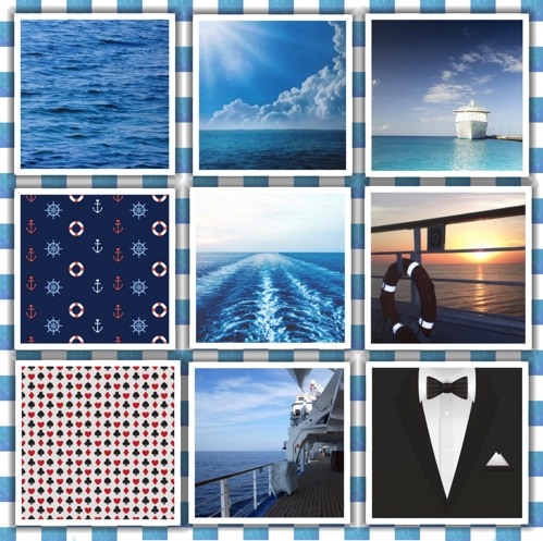 Cruise Scrapbooking Pack - 9 Sheets of 12x12 Paper