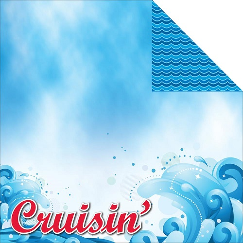 Cruisin Double Sided 12x12 Scrapbooking Paper
