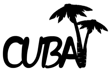 Cuba Scrapbooking Laser Cut Title with Palm Trees