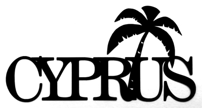Cyprus Scrapbooking Laser Cut Title with Palm Tree